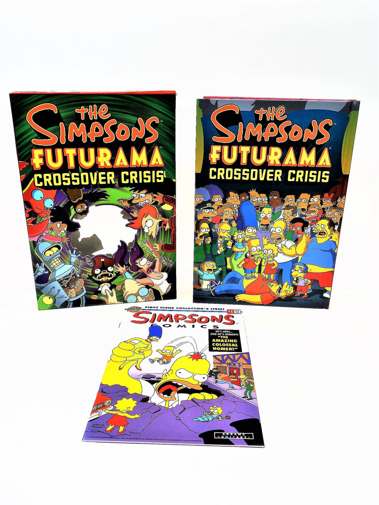 """The Simpsons Futurama Crossover Crisis"" Hardcover Book with Comic"