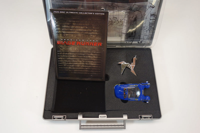 "Harrison Ford ""Blade Runner"" 5 DVD Collector's Set With Case, Hologram Plates, Spinner Police Car, Origami Unicorn 2"