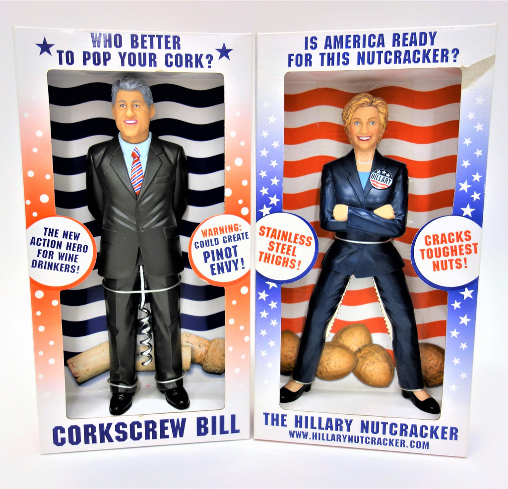 The Clintons: Corkscrew Bill and Hillary Nutcracker