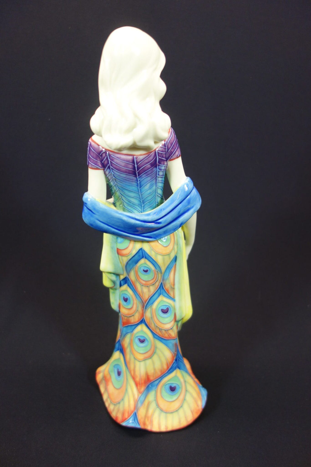 "Benaya Lady in Peacock Dress 14"" Statue 2"