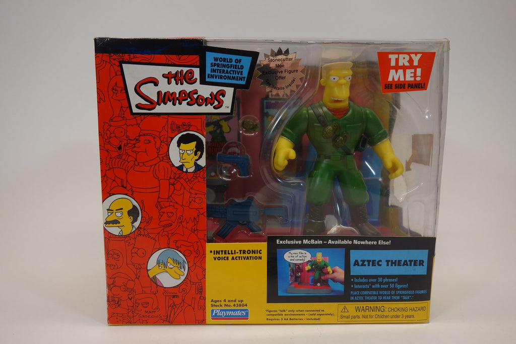 The Simpsons World of Springfield Interactive Environment Aztec Theater With McBain Interactive Intelli-Tronic Voice Activation Figurine 1
