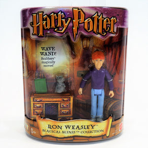 "Harry Potter ""Ron Weasley"" Magical Minis Collection Figurine With Scabbers"