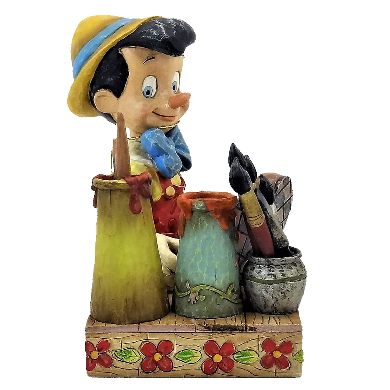 "Walt Disney Showcase Collection Enesco Jim Shore Pinocchio ""Carved From The Heart"" Figure #4005220 2005"