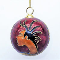 "Oscardo Spirit Cloisonne Collection ""Deer Totem"" Christmas Tree Ornament"