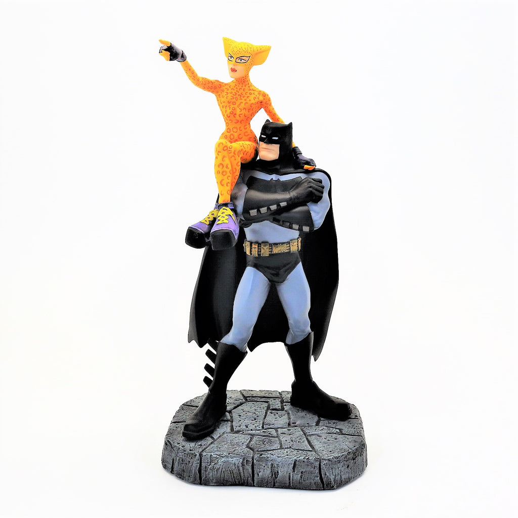 """The Dark Knight Strikes Again"" Batman and Catgirl Porcelain Statue DK2"