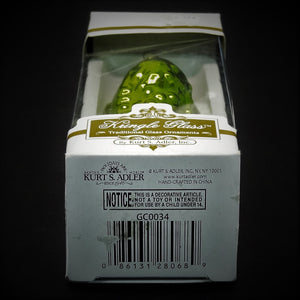 Kringle Glass Traditional Glass Ornament 'The Christmas Pickle'