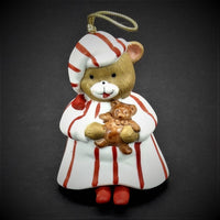 Giftco Inc 1986 Teddy Bear In His Pajamas Christmas Tree Ornament Bell