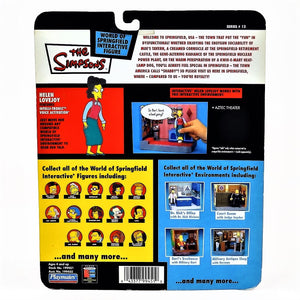 The Simpsons Intelli-tronics Playmates Helen Lovejoy Series 13 Interactive Figure #199450 2003