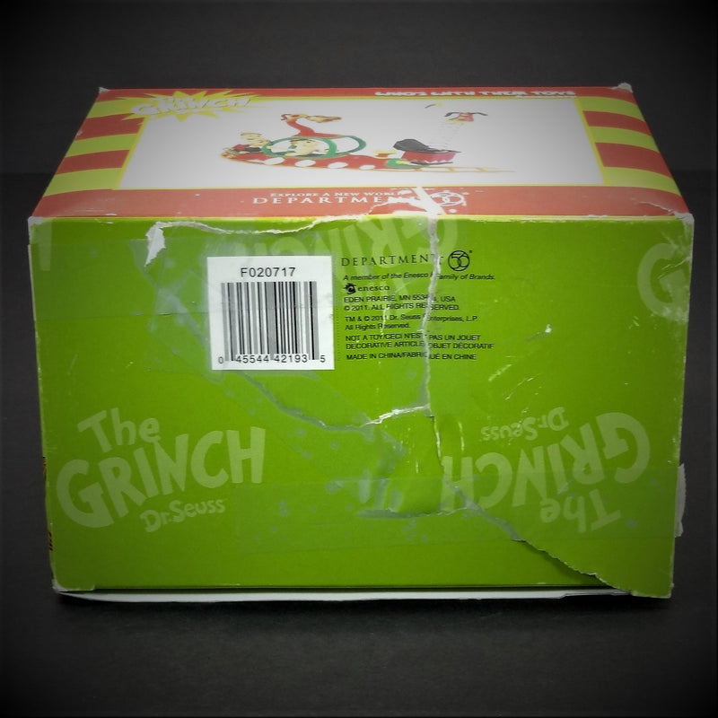 "Department 56 The Grinch By Dr. Seuss ""Who's With Their Toys"" Christmas Decoration"
