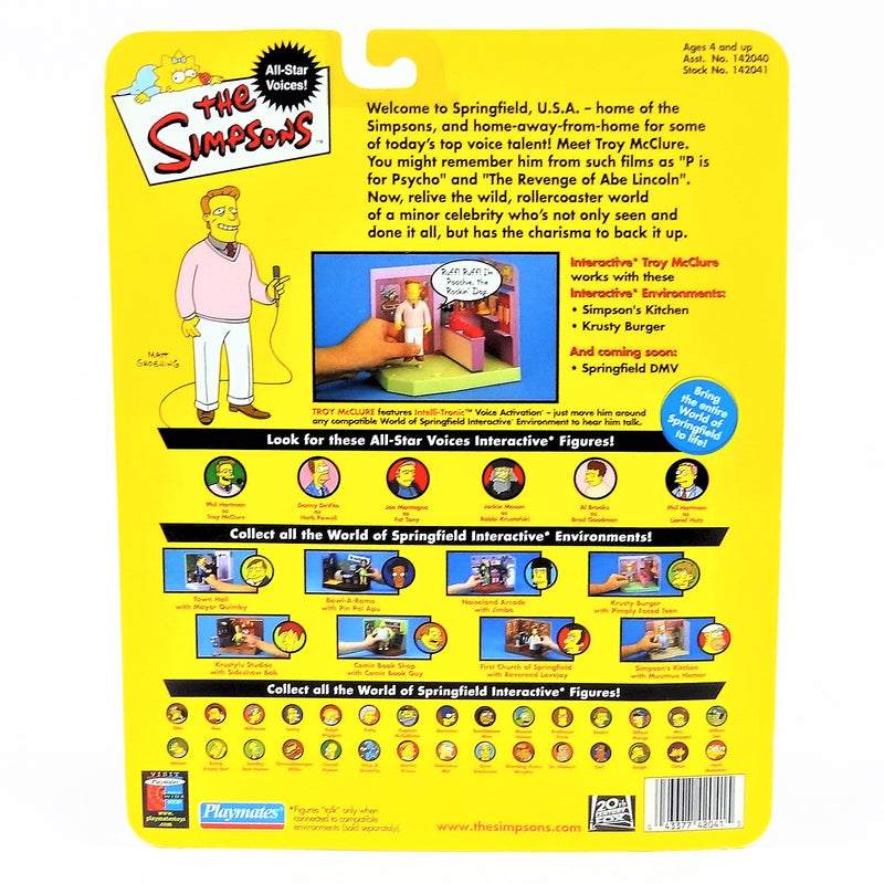 The Simpsons Intelli-tronics Playmates Troy Mcclure Interactive Figure #142040 2002