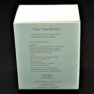 "Hallmark Keepsake Recordable ""Snow One Like You"" Polar Bears Christmas Ornament"