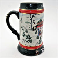 "Budweiser 7"" Beer Stein ""The Season's Best"" By Susan Renee Sampson"