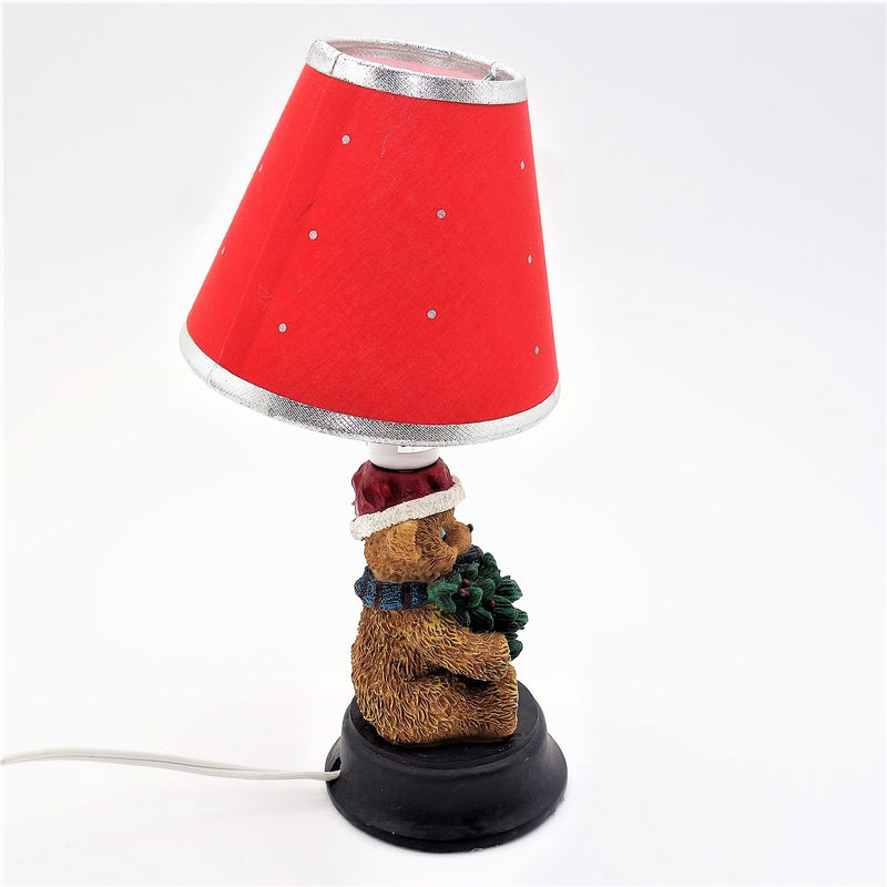 "Wesington House 10"" Teddy Bear Christmas Lamp"