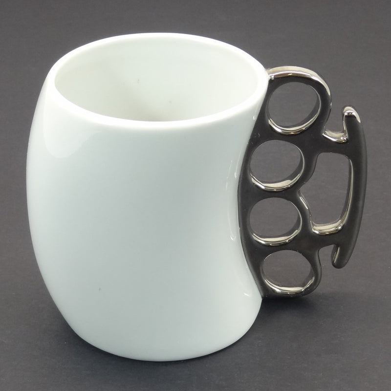 "Knockout Fred Brass Knuckles 4"" Coffee Mug"
