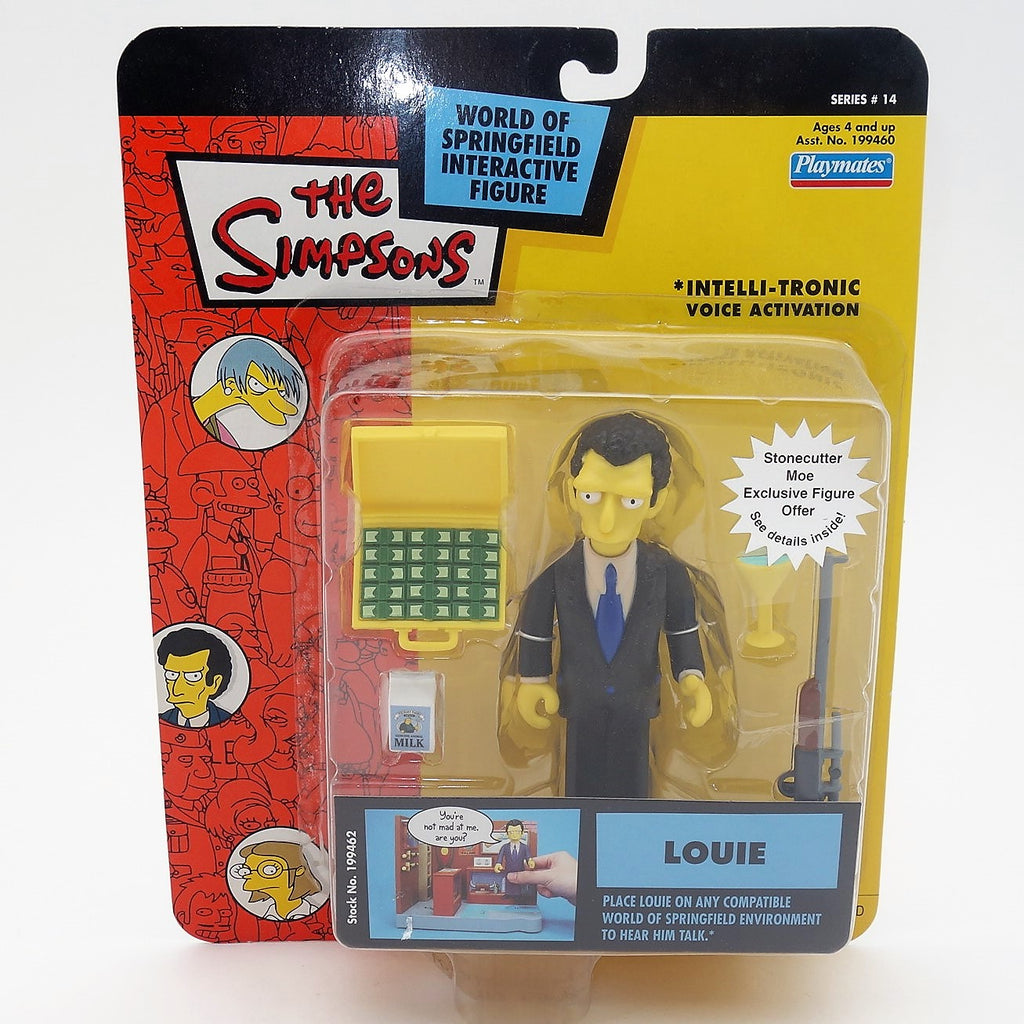 "The Simpsons Playmates Intelli-tronic  ""Louie"" Action Figure"
