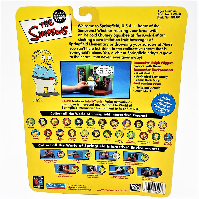 "The Simpsons Playmate Intelli-tronic ""Ralph Wiggum"" Action Figure"