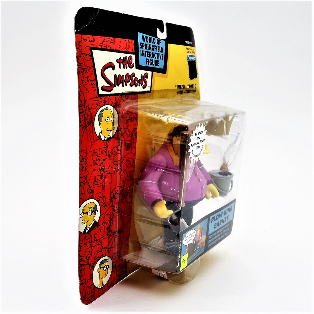 "The Simpsons Playmates Intelli-tronic ""Plow King Barney"" Action Figure"