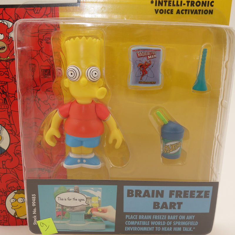 "The Simpsons Playmates Intelli-tronic ""Brain Freeze Bart"" Action Figure"