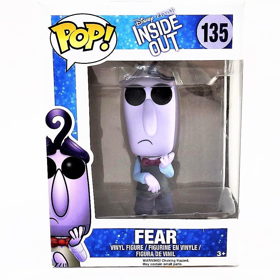 "Inside Out Character ""Fear"" Vinyl Funko Figure 135 Disney Pixar"