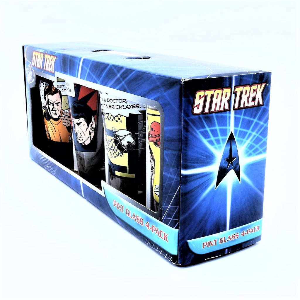 Original Star Trek 4 Piece Pint Glass Set