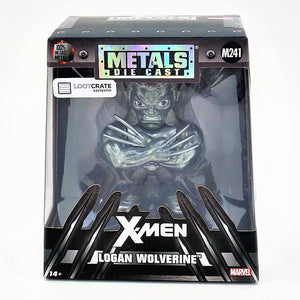 Metals Die Cast X-Men Logan Wolverine Lootcrate Figure M241