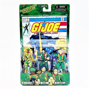 GI Joe Comic Book with Sgt. Stalker Double Clutch Gen. Abernathy Hasbro Figures