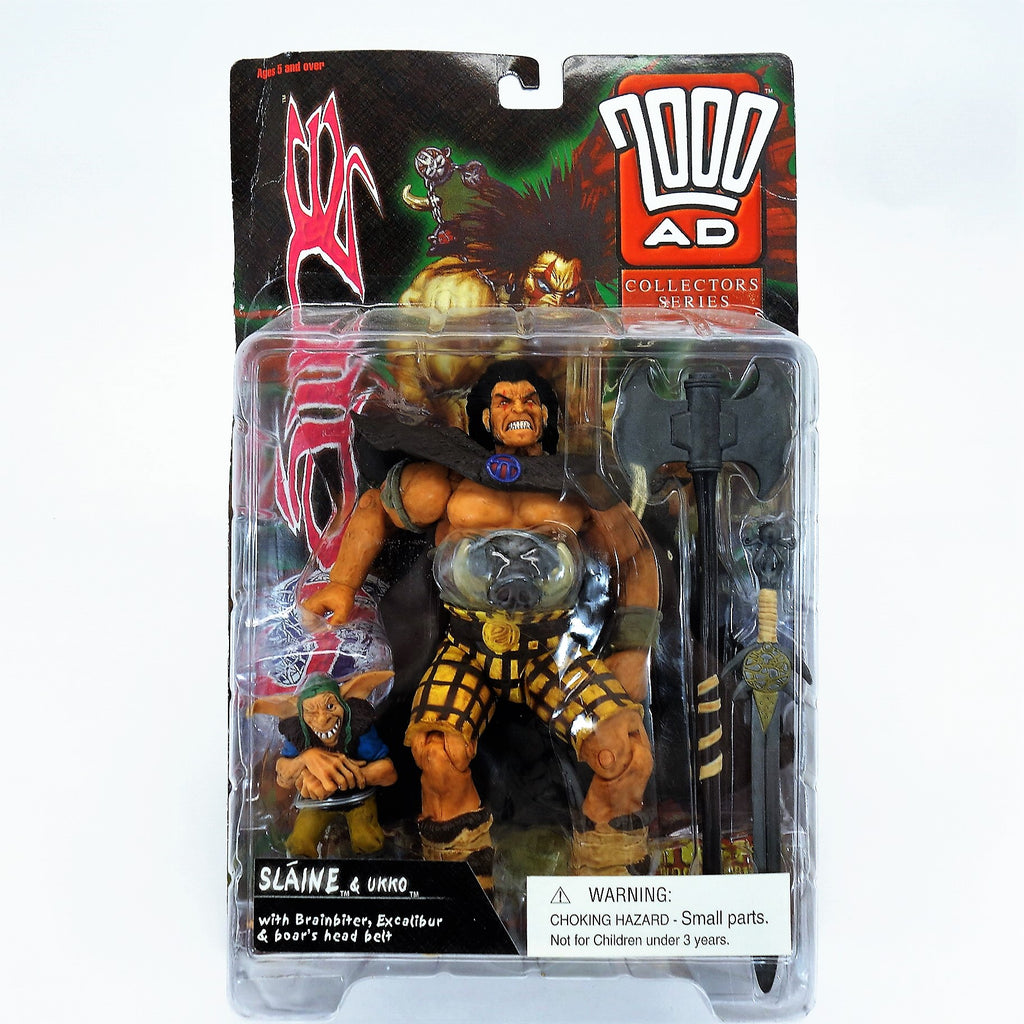 7000 AD Collectors Series Slaine and Ukko Judge Dredd Reaction Figures