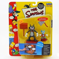 "The Simpsons Playmates Intelli-tronic ""Itchy & Scratchy"" Interactive Action Figures"