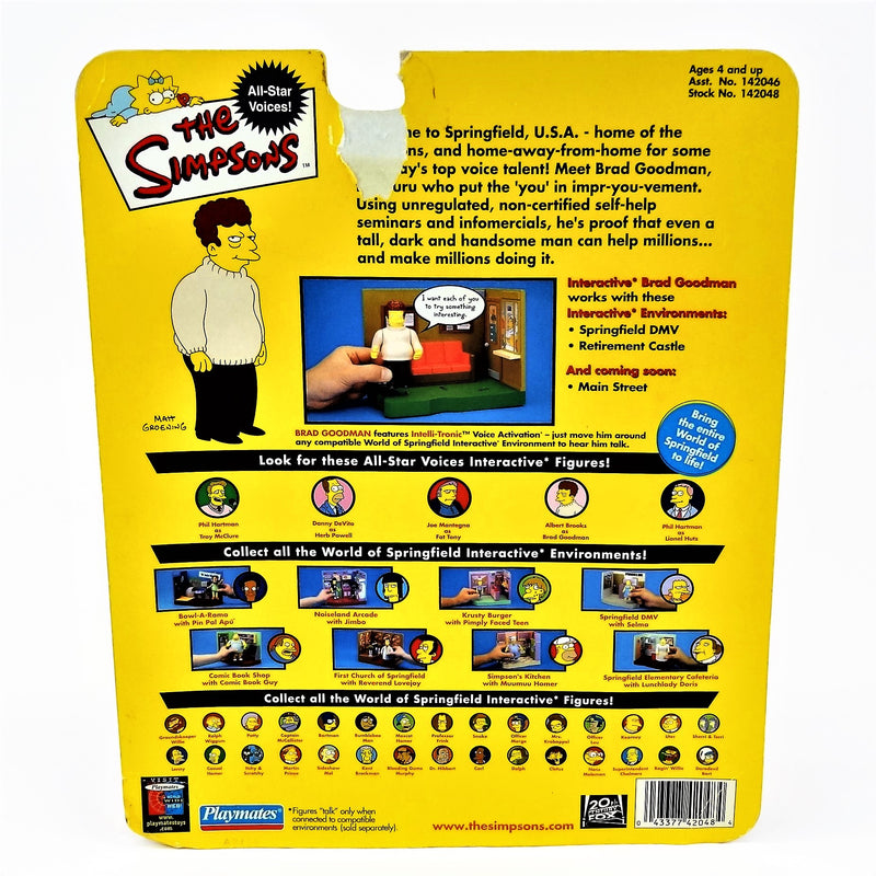 "The Simpsons Playmates Intelli-Tronic Voice Activation ""Brad Goodman"" Figure with Accessories"