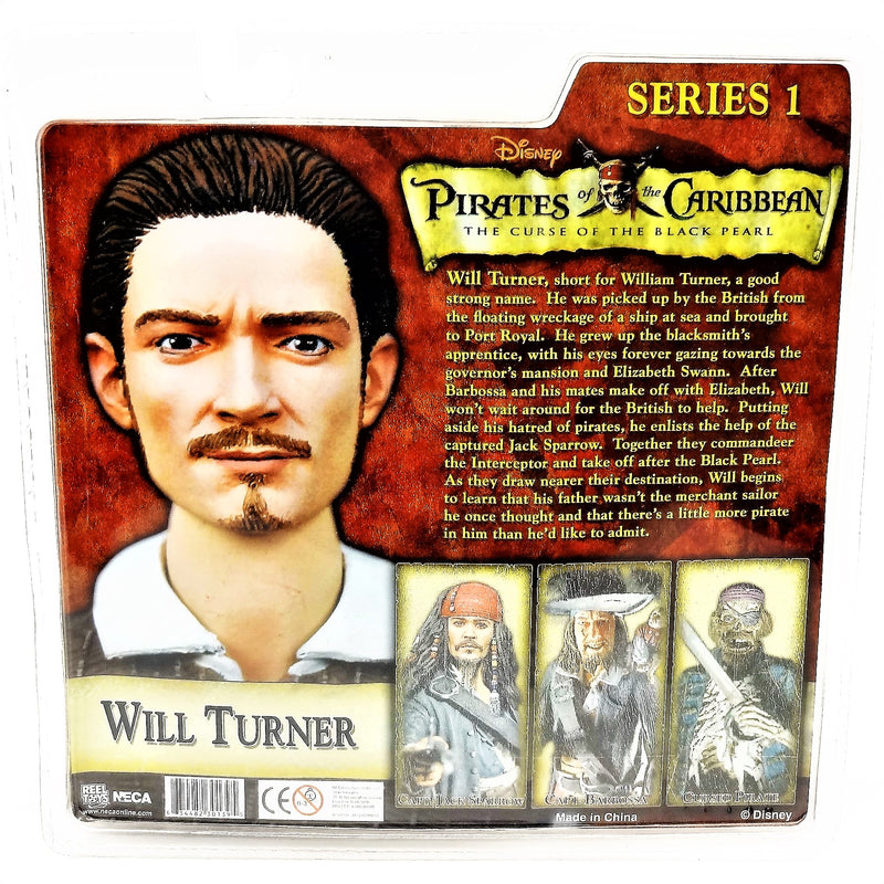 "Disney's Pirates of the Caribbean ""Will Turner"" Series 1 Action Figure with Accessories Neca"