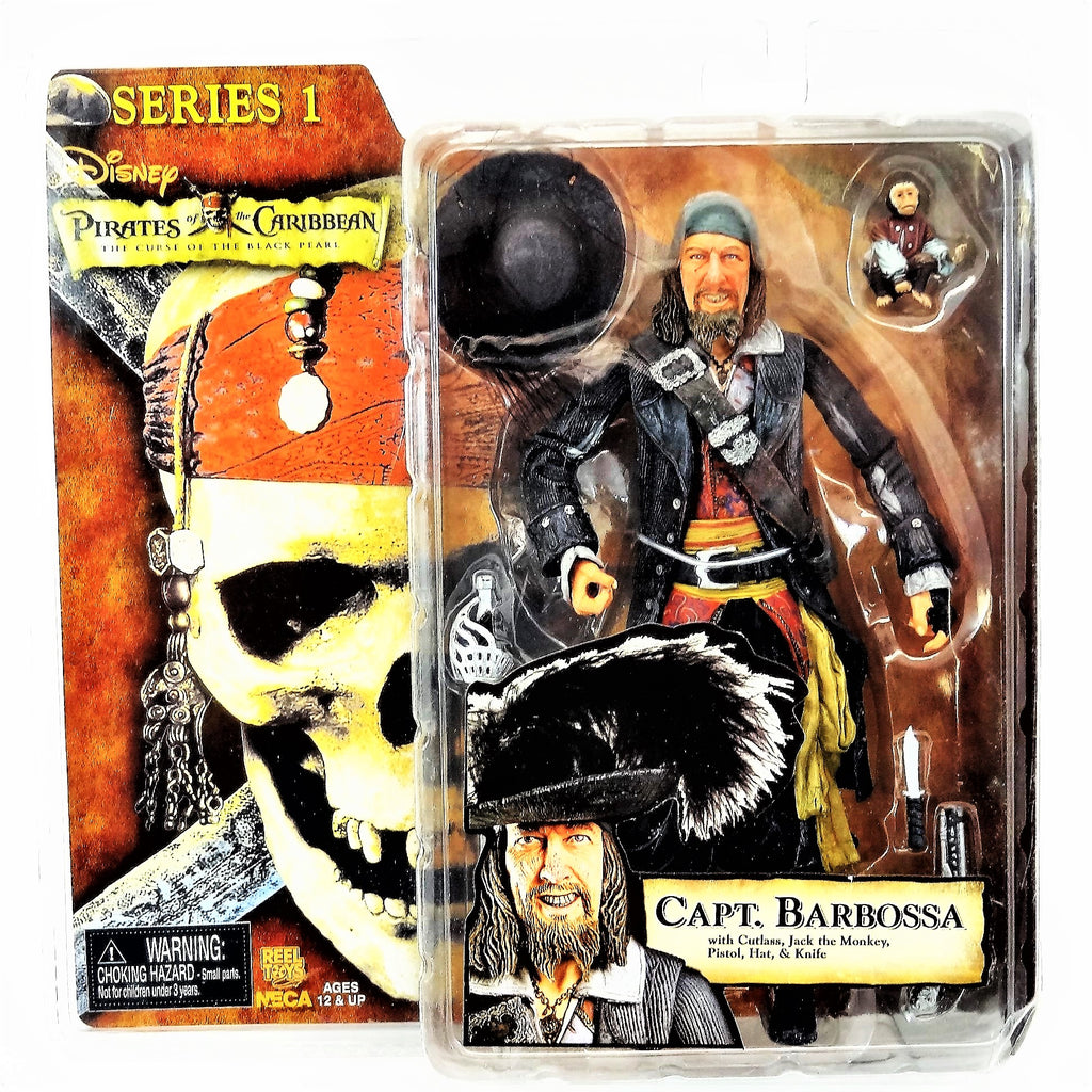 "Disney's Pirates of the Caribbean ""Capt. Barbossa"" Neca Series 1 Action Figure with Accessories Neca"
