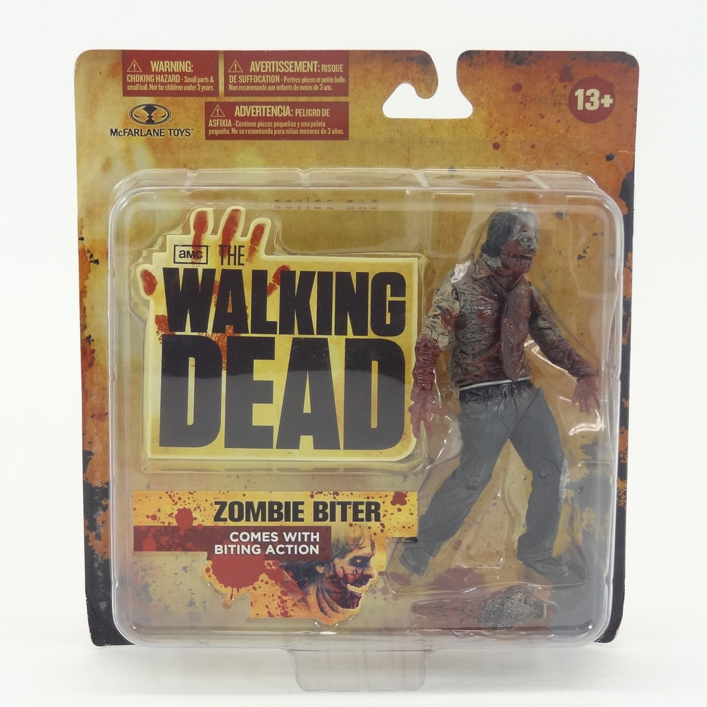 "McFarlane Toys AMC's The Walking Dead ""Zombie Biter"" Action Figure With Biting Action"
