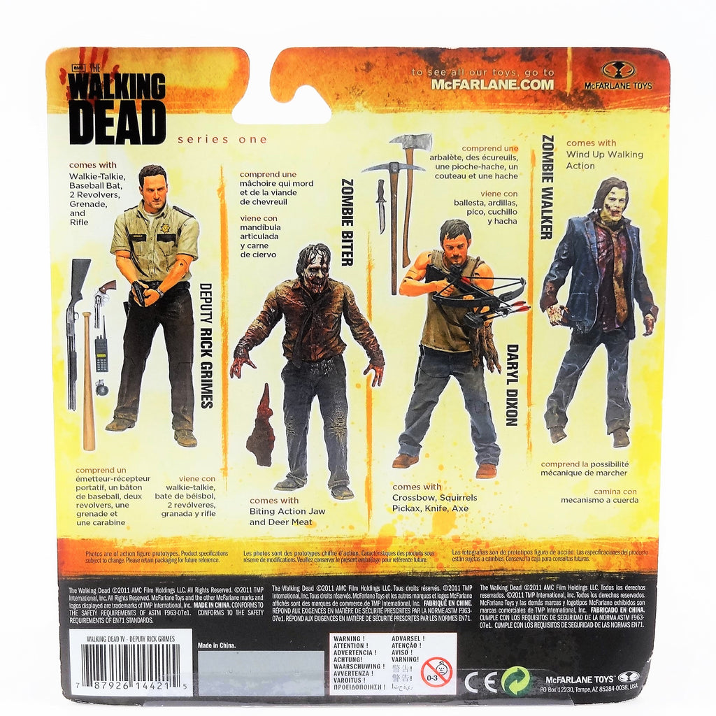 "McFarlane AMC's The Walking Dead ""Deputy Rick Grimes"" Action Figure With Accessories"