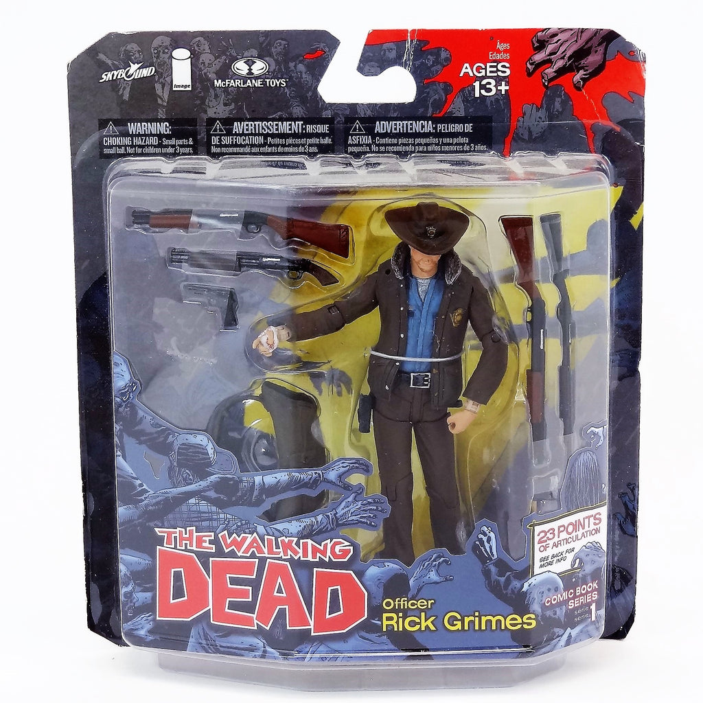 "McFarlane The Walking Dead ""Officer Rick Grimes"" Comic Book Series 1 Action Figure"