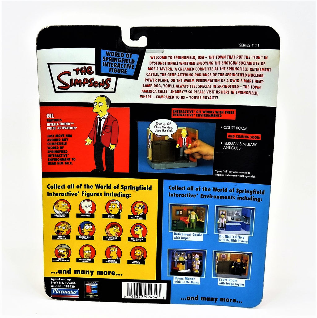 "The Simpsons Playmates Intelli-Tronic ""Gil"" Interactive Figure"