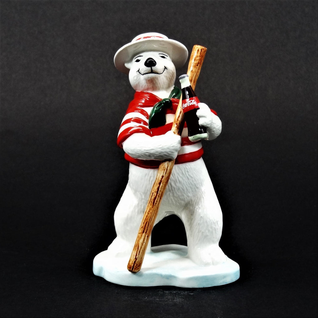 "Coca-Cola Ceramic Polar Bear ""Around The World Bears"" Figurine Italy #328995"