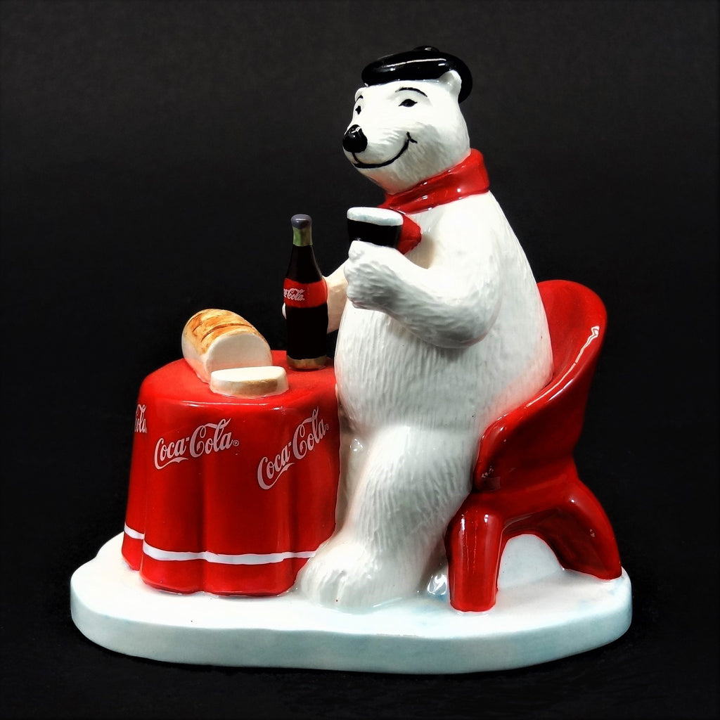 "Coca-Cola Polar Bear Ceramic Figurine ""Around The World Bears"" France #328979"