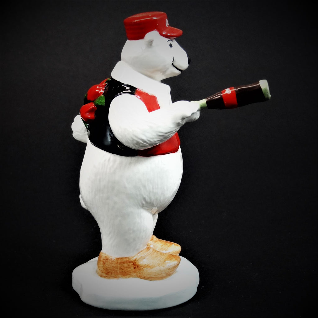 "Coca-Cola Polar Bear Ceramic Figurine ""Around the World Bears"" Holland #329010"