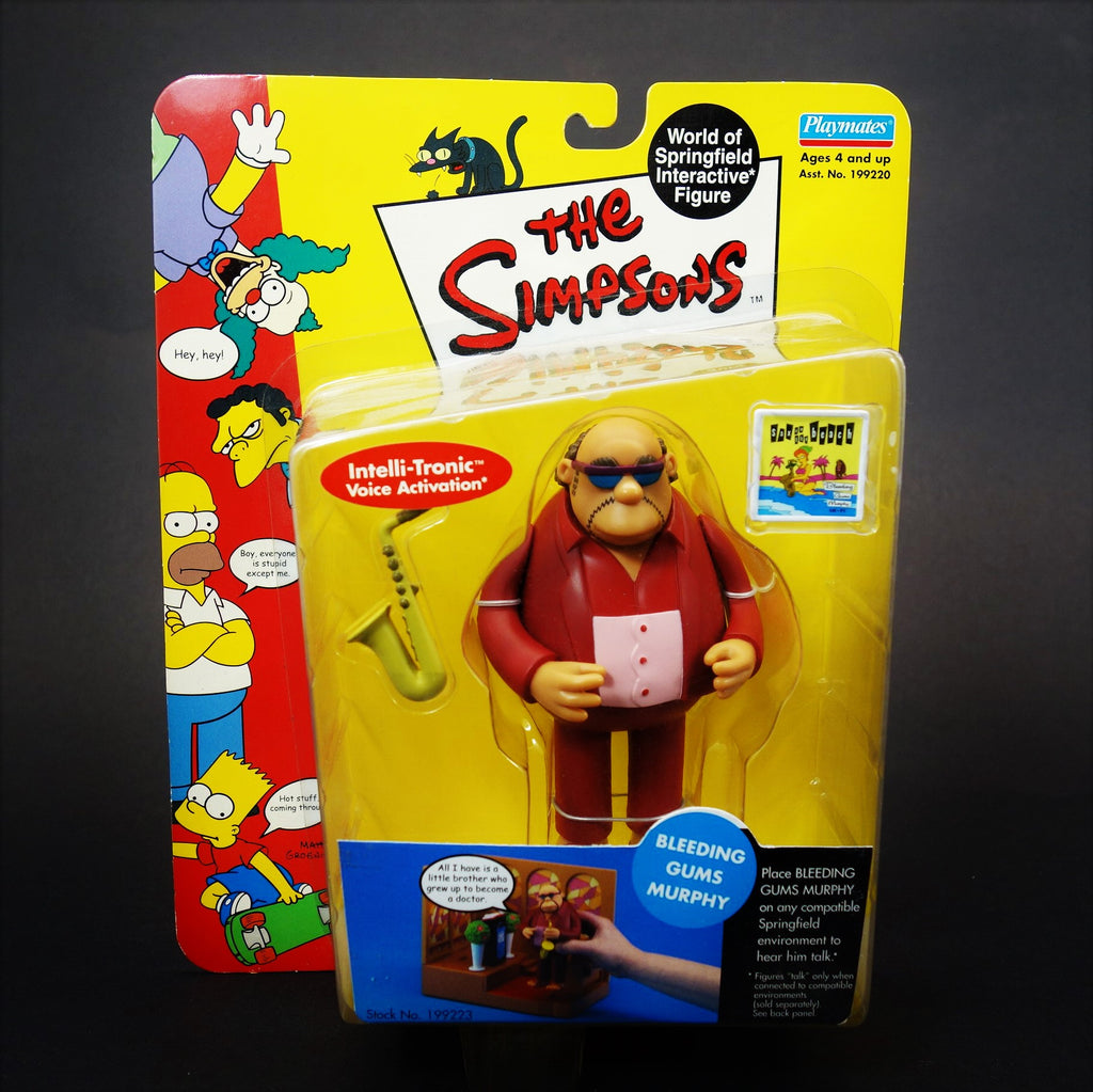 The Simpsons Playmates Intelli-Tronic Bleeding Gums Murphy Interactive Figure Series 6