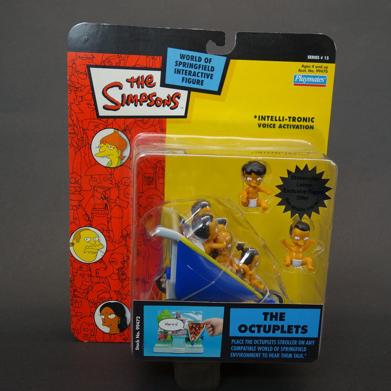 The Simpsons Playmates Intelli-Tronic The Octuplets Interactive Figures Series 15