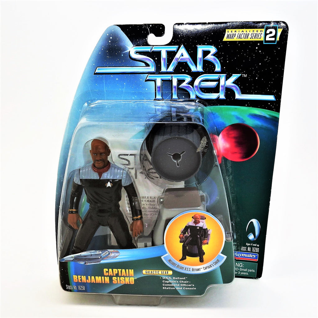 Playmates Star Trek: Deep Space Nine Captain Benjamin Sisko Action Figure Paramount Toys Warp Factor Series 2 1998 #16258