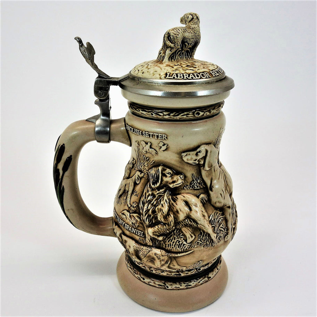 Avon Great Dogs of the Outdoors Lidded Stein Ceramarte 1991