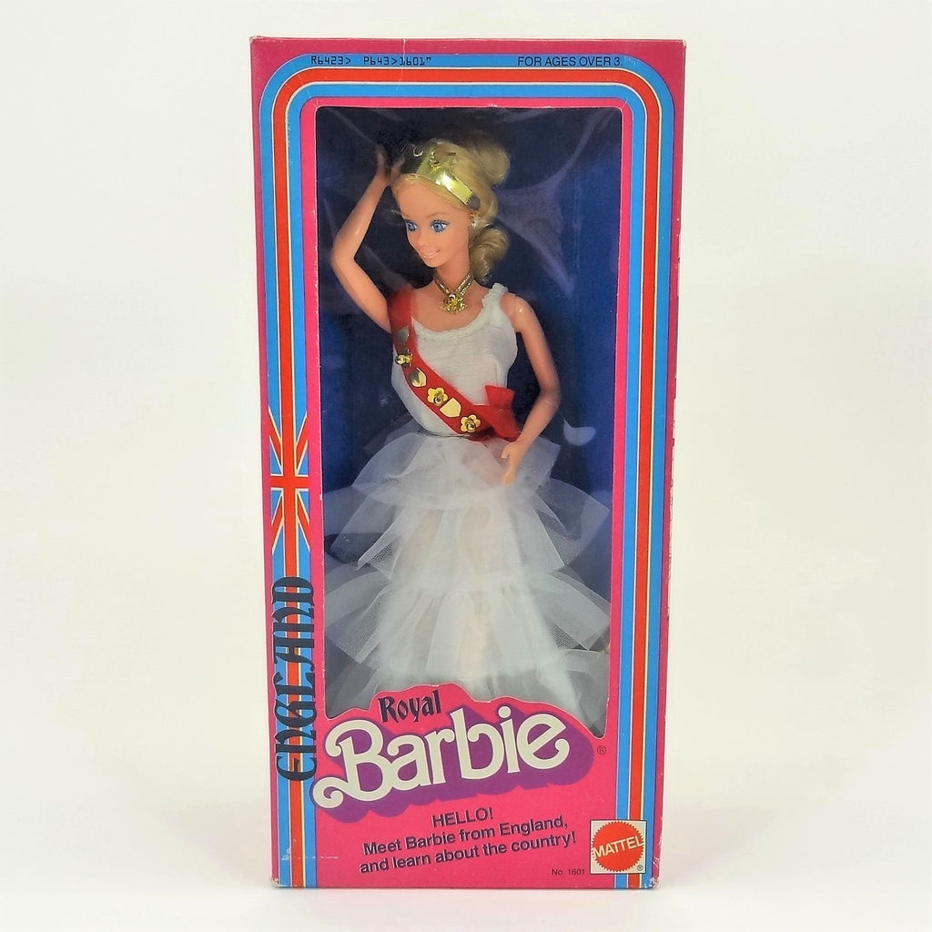 "Mattel Barbie ""Royal Barbie"" England 1980 #1601 Vintage Collectible Doll"