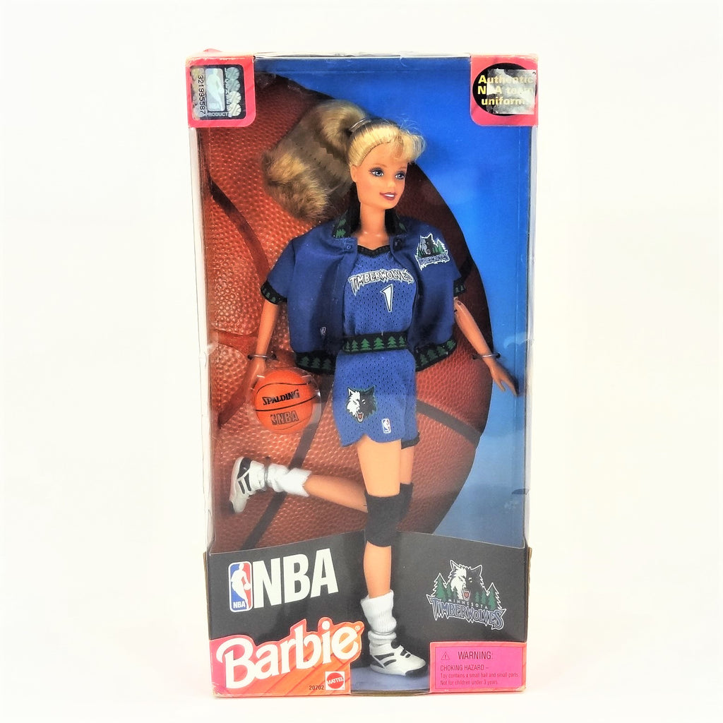 "Mattel Barbie NBA ""TimberWolves Barbie"" 1998 #20702"