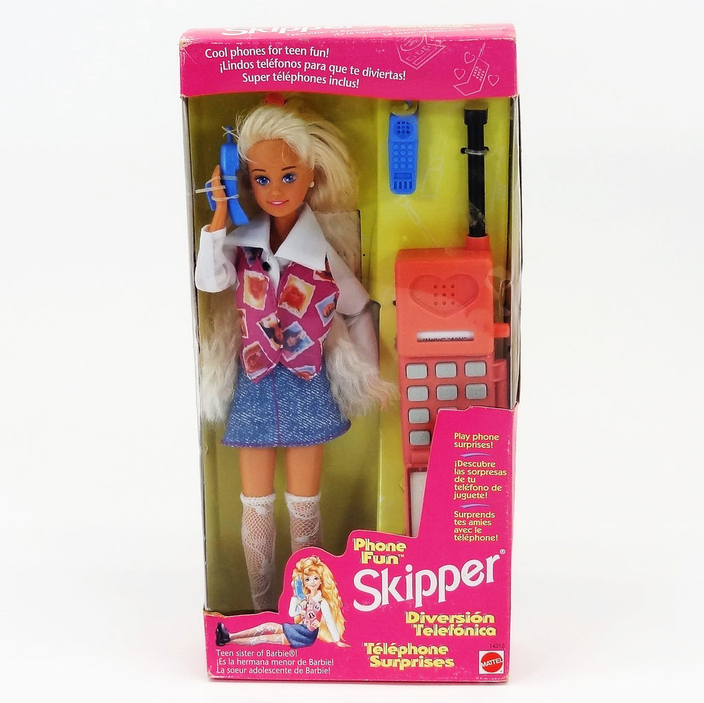 Mattel Barbie Phone Fun Skipper 1995 #14312 Teen Sister of Barbie