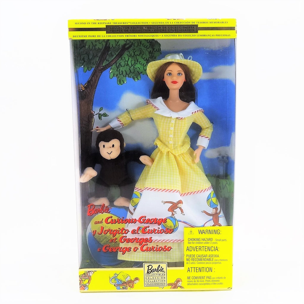 "Mattel ""Barbie and Curious George"" Second in The Keepsake Treasures Collection 2000 #28798 Collector Edition"