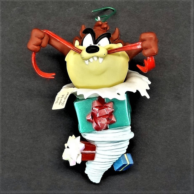 Hallmark Keepsake Taz Unwrapped Looney Tunes Christmas Tree Ornament