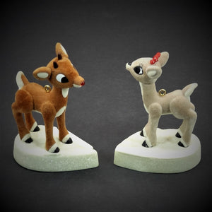 Hallmark Keepsake Rudolph & Clarice, Magic Light & Magnet Christmas Tree Ornament