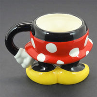 "Authentic Original Walt Disney Theme Park 4.5"" Minnie Mouse Coffee Mug"