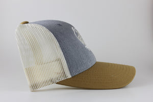 Grey and Amber Gold Trucker